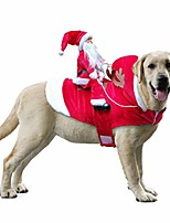 cheap -funny pet dog cat christmas costume santa dogs winter hoodie coat clothes for christmas halloween party,the riding horse santa claus pet cat dog apparel accessories