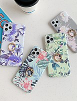 cheap -Case For Apple iPhone 12 / iPhone 12 Mini / iPhone 12 Pro Max Ring Holder / Pattern Back Cover Flower TPU
