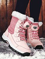 cheap -Women's Boots Snow Boots Flat Heel Round Toe Booties Ankle Boots Casual Daily PU Solid Colored Black Pink Gray / Booties / Ankle Boots / Booties / Ankle Boots
