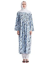 cheap -Women's Basic Floral Two Piece Set Cotton Wrap Pant Print Tops / Loose