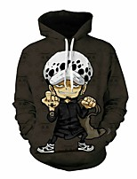 cheap -Inspired by Cosplay Trafalgar Law Cosplay Costume Hoodie Plush Fabric 3D Printing Hoodie For Men's / Women's