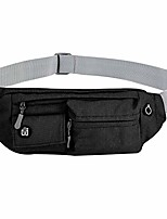 cheap -fanny pack portable soft polyester water resistant waist bag pack for man women carrying iphonex samsung s6 (black)