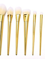 cheap -- 7pcs pro makeup accessories cosmetic high brushes set powder foundation eyeshadow eyeliner blush lip brush tools(gold)
