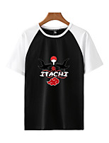 cheap -Inspired by Naruto Cosplay Akatsuki Uchiha Itachi T-shirt Polyester / Cotton Blend Print Printing T-shirt For Men's / Women's