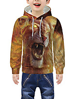 cheap -Kids Boys' Active 3D Graphic Animal Print Long Sleeve Hoodie & Sweatshirt Yellow
