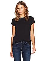 cheap -women's short sleeve crew neck logo t-shirt, black, x-large