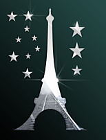 cheap -Famous / Tower / Star Shapes Wall Stickers Mirror Wall Stickers Decorative Wall Stickers, Acrylic Home Decoration Wall Decal Wall Decoration 1pc