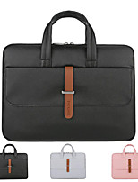 cheap -13.3 Inch Laptop / 14 Inch Laptop / 15.6 Inch Laptop Sleeve / Briefcase Handbags / Tablet Cases PU Leather / Polyurethane Leather Solid Colored / Textured for Men for Women for Business Office