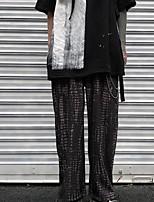 cheap -Women's Sporty Outdoor Loose Daily Wide Leg Pants Pants Print Full Length High Waist Black