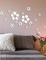 cheap -Floral / Botanical Wall Stickers Mirror Wall Stickers Decorative Wall Stickers, Acrylic Home Decoration Wall Decal Wall Decoration 1pc