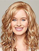 cheap -Synthetic Wig Curly Water Wave Asymmetrical Wig Medium Length Blonde Synthetic Hair Women's Fashionable Design Classic Exquisite Blonde
