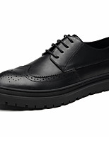 cheap -Men's Oxfords Daily Walking Shoes PU Wear Proof Black / Brown / Gray Spring / Fall