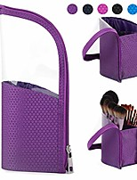 cheap -makeup brush bag travel brushes case pouch organizer holder dustproof for women and girls (purple)