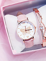 cheap -Women's Quartz Watches Quartz Butterly Style Modern Style Butterfly Cute Analog Blushing Pink / One Year / PU Leather