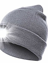 cheap -led beanie hat night beanie hat caps with light darkness knit beanie rechargeable led beanie usb electric beanie thermal battery powered hat for night (gray)