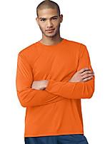cheap -cool dri performance men's long-sleeve t-shirt_safety orange_x-large