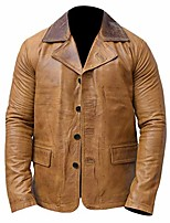 cheap -men's red dead redemption ii arthur morgan genuine leather jacket coat (xxl)