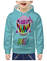 cheap -Kids Boys' Active 3D Animal Letter Print Long Sleeve Hoodie & Sweatshirt Blue