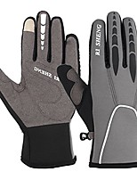 cheap -winter touch screen biking gloves warm windproof cycling gloves cold weather working out gloves for men women (gray, m)