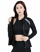 cheap -women body shaper workout sauna slimming long sleeve shirt neoprene thermo for yoga gym running weight loss