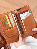 cheap -Travel Wallet Passport Holder & ID Holder Document Organizer Large Capacity Waterproof Anti-theft Casual Traveling PU Leather Classic Gift For Men and Women 10.5*1.5*19.5 cm