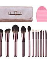 cheap -12 Pcs makeup brush sets soft hair small grape of eyeshadow loose powder beauty makeup all beginners makeup tools