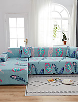 cheap -Leaf Print 1-Piece Sofa Cover Couch Cover Furniture Protector Soft Stretch Sofa Slipcover Spandex Jacquard Fabric Super Fit for 1~4 Cushion Couch and L Shape Sofa,Easy to Install(1 Free Cushion Cover)