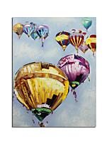 cheap -Abstract Hot Air Balloon Oil Painting On Canvas 100% Hand Painted Modern Wall Art Pictures For Living Room Home Decoration