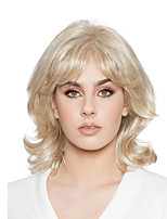 cheap -Synthetic Wig Curly With Bangs Wig Short Light Blonde Blonde Synthetic Hair Women's Fashionable Design Exquisite Fluffy Blonde