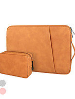 cheap -13.3 Inch Laptop / 14 Inch Laptop / 15.6 Inch Laptop Sleeve / Briefcase Handbags / Tablet Cases PU Leather / Polyurethane Leather Simple / Solid Colored for Men for Women for Business Office