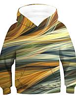 cheap -Kids Boys' Active Basic 3D Drawstring Long Sleeve Hoodie & Sweatshirt Rainbow