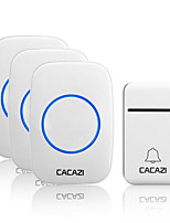 cheap -CACAZI Smart Self-Powered Wireless Doorbell 200M Remote No Battery Required Waterproof Home Cordless door bell 38 Chimes