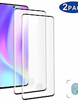 """cheap -2 pack hd galaxy s20 ultra screen protector, [support fingerprint unlock] [3d full edge covered] [9h hardness] [anti-dirty] friendly tempered glass film ,for samsung galaxy s20 ultra (6.9"""")"""