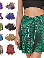cheap -Hippie Disco Hippie 1970s Disco Pants Masquerade Women's Spandex Costume Golden / Black / Purple Vintage Cosplay Party Halloween / Skirt