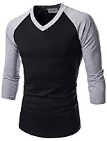 cheap -(nknkr7t622 unisex 3/4 sleeve round neck fitted raglan t-shirts whitegray us xl(tag size 2xl)