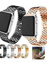 cheap -Watch Band for Apple Watch Series 6 / SE / 5/4 44mm / Apple Watch Series 6 / SE / 5/4 40mm / Apple Watch Series 3/2/1 38mm Apple Sport Band Stainless Steel Wrist Strap