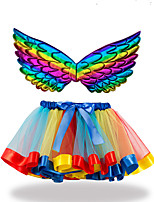 cheap -Princess Skirt Cosplay Costume Costume Girls' Movie Cosplay Tutus Christmas Purple / Light Purple / Blue Skirts Wings Christmas Halloween Carnival Polyester / Cotton Polyester