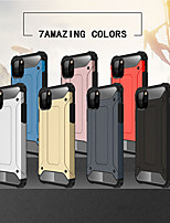 cheap -Case For  iPhone 11 Shockproof Back Cover Lines / Waves / Solid Colored Acrylic  For 11 Pro Max/6 6S 7 8 Plus/XS Max/XR/XS