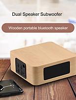 cheap -1200mAh Bluetooth Wooden Bass Speaker Mini Wireless Subwoofer Portable Bass Column For Mobile Phone