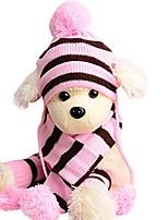 cheap -1 set pet accessories cute pet dog apparel puppy cats hats scarf socks winter warm(pink, xxs)