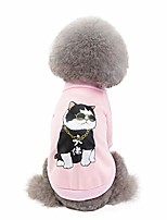 cheap -petnsport dog sweater (cat) for small dog, cute classic warm pet sweatershirt for dog - girls boys, cat sweater dog sweatshirt winter coat apparel for small dog puppy kitten cat