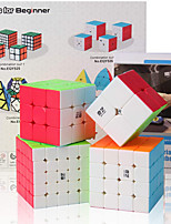 cheap -Speed Cube Set 4 pcs Magic Cube IQ Cube 2*2*2 3*3*3 4*4*4 Speedcubing Bundle 3D Puzzle Cube Stress Reliever Puzzle Cube Stickerless Smooth Office Desk Toys Pyramid Megaminx Skew Kid's Adults Toy Gift