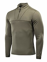 cheap -delta level 2 mens top thermal underwear for men fleece lined compression shirt (army olive, s)