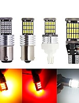 cheap -2pcs T15 T20 1156 BA15S P21W W16W 45SMD 4014 LED CANBUS NO ERROR Car Tail Bulb Brake Light Backup Reverse Lamp White Yellow 12V