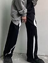 cheap -Women's Sporty Outdoor Loose Daily Pants Chinos Pants Print Full Length High Waist Black