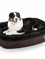 cheap -dog bed large (xl/xxl/xxxl) washable | big calming pets dogs bed for small, medium, large size dog breeds | warm rectangle couch bed | non-slip& waterproof bottom