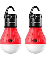 cheap -2 pack compact led lantern tent camp light bulb for camping hiking fishing emergency lights, battery powered portable lamp, red (batteries not included)
