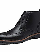 cheap -men's lace-up boot winter dress boots cap toe oxfords dress ankle boots black size 6.5