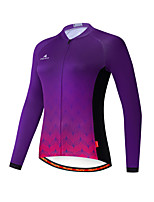 cheap -Miloto Women's Long Sleeve Cycling Jersey Purple Bike Jersey Top Mountain Bike MTB Road Bike Cycling Breathable Quick Dry Warm Sports Clothing Apparel / Stretchy / Ultraviolet Resistant / Italian Ink