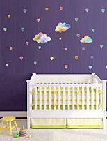 cheap -Colorful Cloud Heart-Shaped Raindrop Girl Children'S Room Dream Wall Stickers